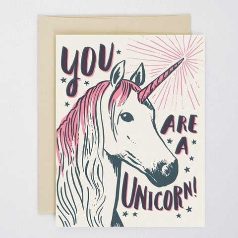 Hello Lucky You're a Unicorn Card