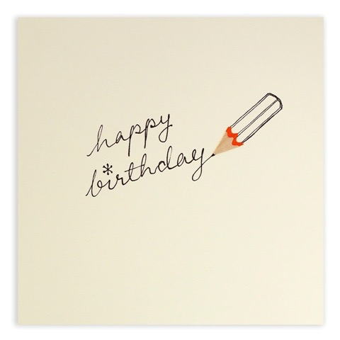 Pencil Shavings Birthday Pencil Card