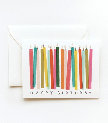 Rifle Paper Co. Birthday Candles Card