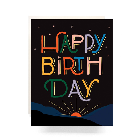 Antiquaria Design Studio Sunrise Birthday Card