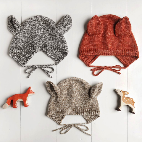 Wiksten Baby + Child Animal Bonnet Knitting Pattern