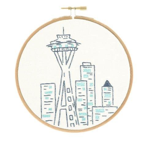 Studio MME Seattle Space Needle Embroidery Kit