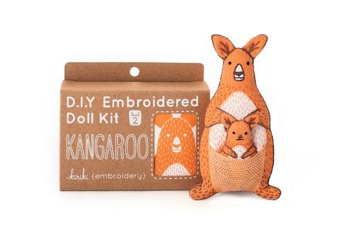 Kiriki Press Kangaroo Embroidery Kit