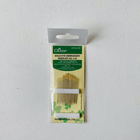 Clover Gold Eye Embroidery Needle  (No. 3-9)