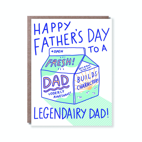 Hello Lucky Legendairy Dad Card