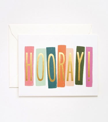 Rifle Paper Co. Hooray! Card