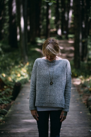 The Weekender Sweater Knitting Pattern by Drea Renee Knits