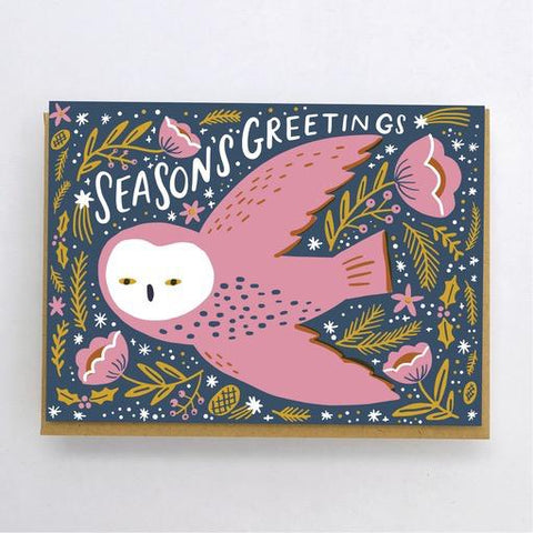 Hello Lucky Night Owl Holiday Card