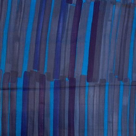 Nani Iro 2019 Grace Cotton Double Gauze Stripe Dark Blue