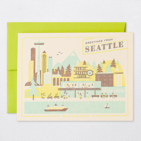 Hello Lucky Visit Seattle Card