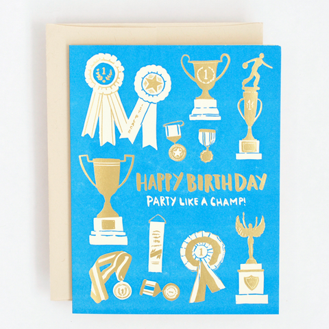 Hello Lucky Champ Birthday Card