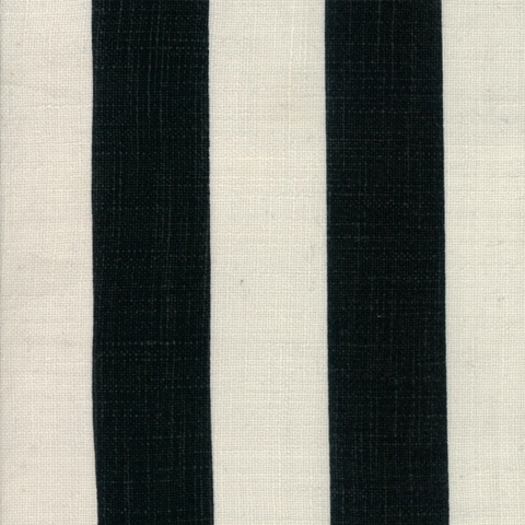 Urban Cottage by Urban Chiks Wide Slub Stripe Ivory/Black 54""