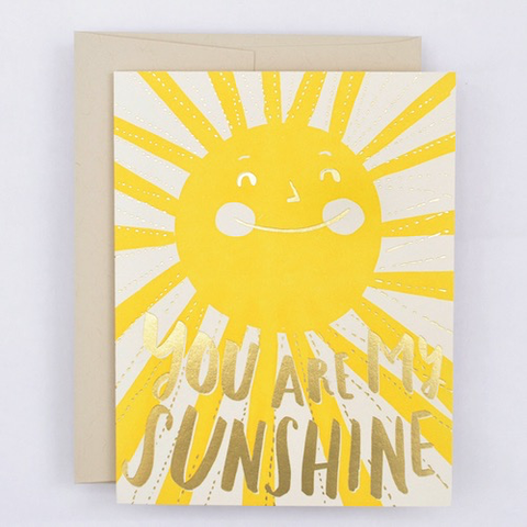 Hello Lucky You Are My Sunshine Card