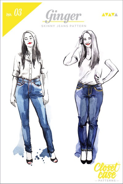 9d106b3177 Closet Case Patterns Ginger Skinny Jeans Sewing Pattern – Drygoods ...