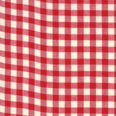 Picnic Basket Woven Small Check Plaid Red