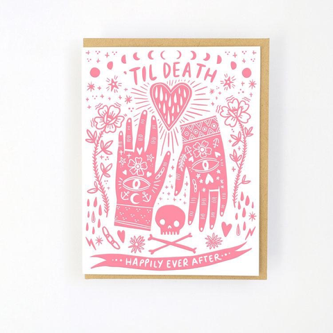 Hello Lucky Till Death Card