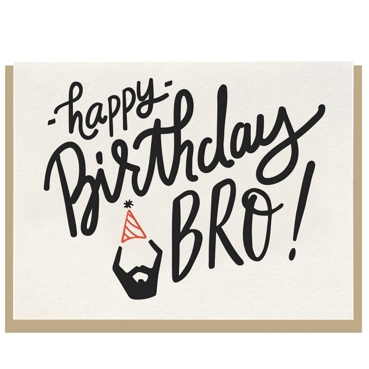 dahlia press happy birthday bro card