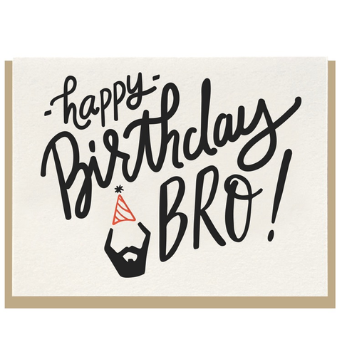 Dahlia Press Happy Birthday Bro! Card