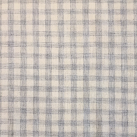 Sevenberry Yarn Dyed Double Gauze Gingham Grey 45""