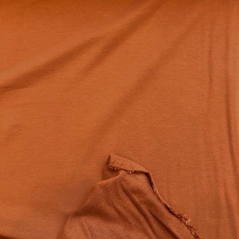 Bamboo Cotton Stretch French Terry Rust 60""