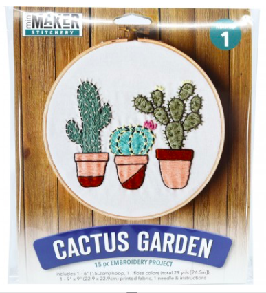 Mini Maker Stitchery Kit - Cactus Garden