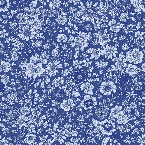 Liberty of London English Garden Emily Silhouette Blue