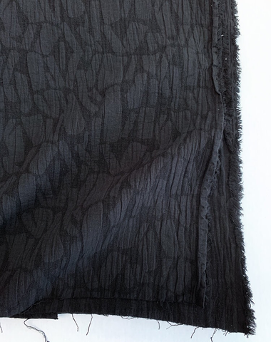 Cotton Linen Jacquard Abstract Black 51""