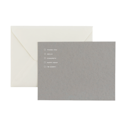 Appointed Greeting Notecards Smoke Gray (Set of Six)