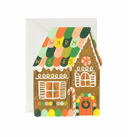 Rifle Paper Co. Gingerbread House Card
