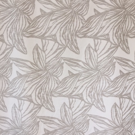 Large Scale Cotton Jacquard Woven Orchid Natural 61""