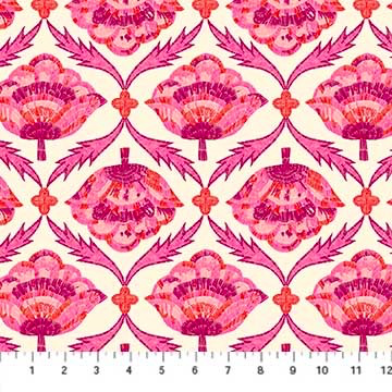 Glasshouse by Emily Taylor Embroidered Bloom Pink