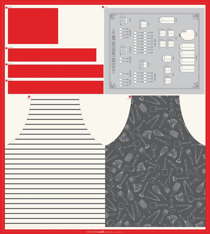 Apron Tea Towel Cut & Sew Panel by Stacey Hsu