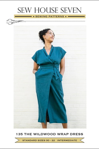 Wildwood Wrap Dress by Sew House Seven Printed Sewing Pattern (00-22)