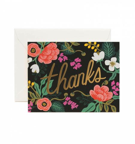 Rifle Paper Co. Birch Floral Thank You Card