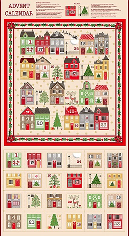 Silent Night Advent Calendar by Makower UK (sold per panel)