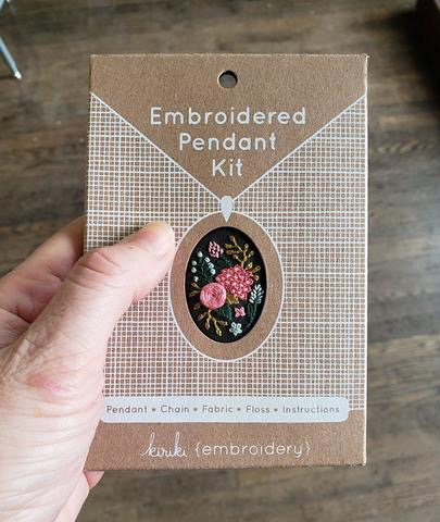 Kiriki Press Wildflowers Embroidered Pendant Kit