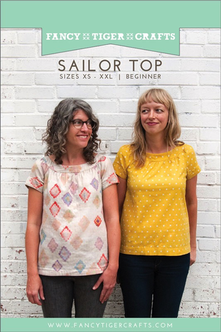 The Sailor Top sewing pattern by Fancy Tiger