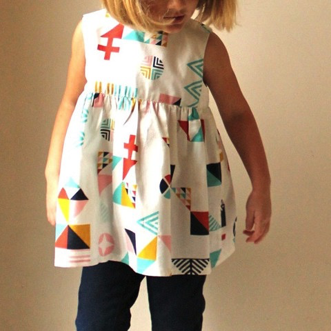 Made by Rae Geranium Dress Sewing Pattern (sizes 0-5T)