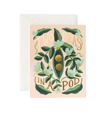 Rifle Paper Co. Two Peas in a Pod Card