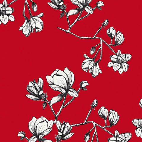 Magnolia Study by Bari J for AGF Studio Silkroad Fusion Rayon Red 58""