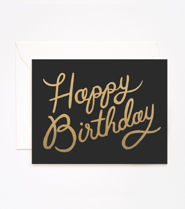 Rifle Paper Co. Shimmering Birthday Card