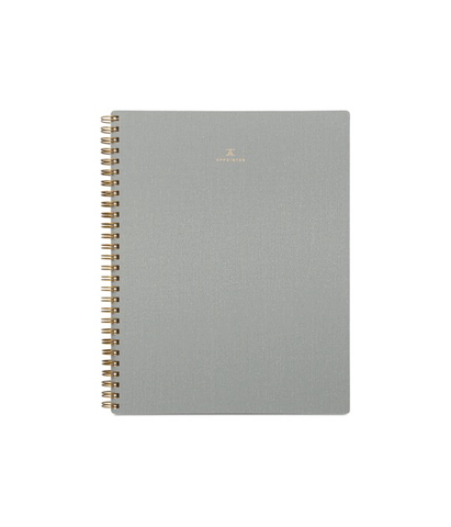 Appointed Blank Notebook Dove Gray