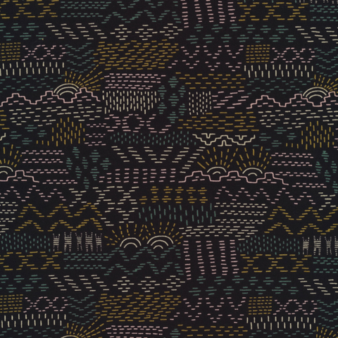 Faraway Places by Elizabeth Olwen Woven Tales Navy