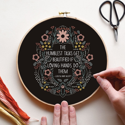 Humblest Task Embroidery Sampler by Gingiber