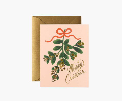 Rifle Paper Co. Mistletoe Christmas Card