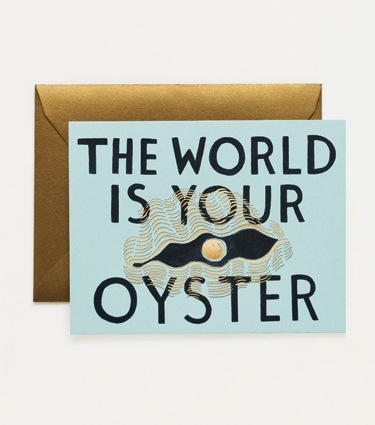 Rifle Paper Co. The World is Your Oyster Card