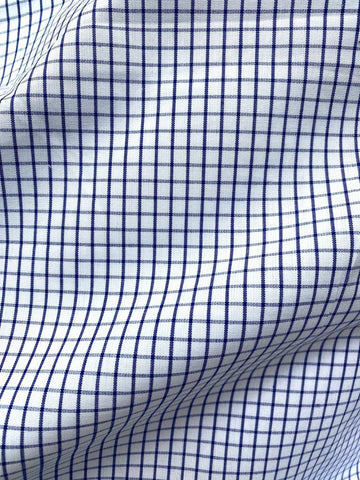 Cotton Shirting Check Blue 55""