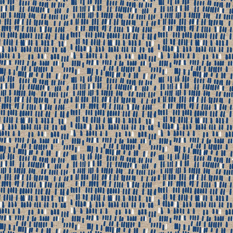 Surface by Amy Van Luijk for Figo Fabrics Cotton Linen Dashes Blue