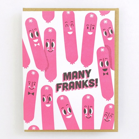 Hello Lucky Many Franks Card