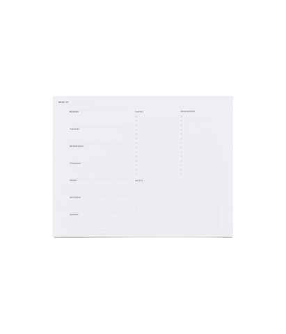 Appointed Weekly Task Pad